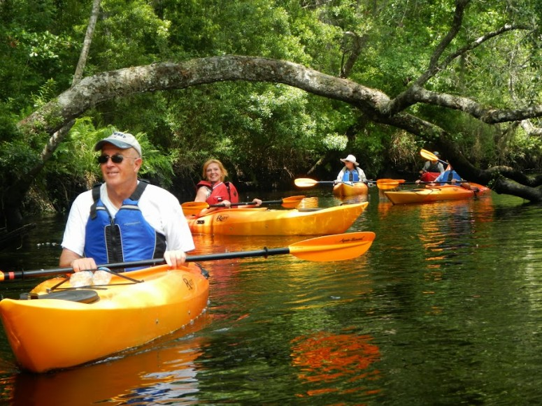 Paddling on Lofton Creek