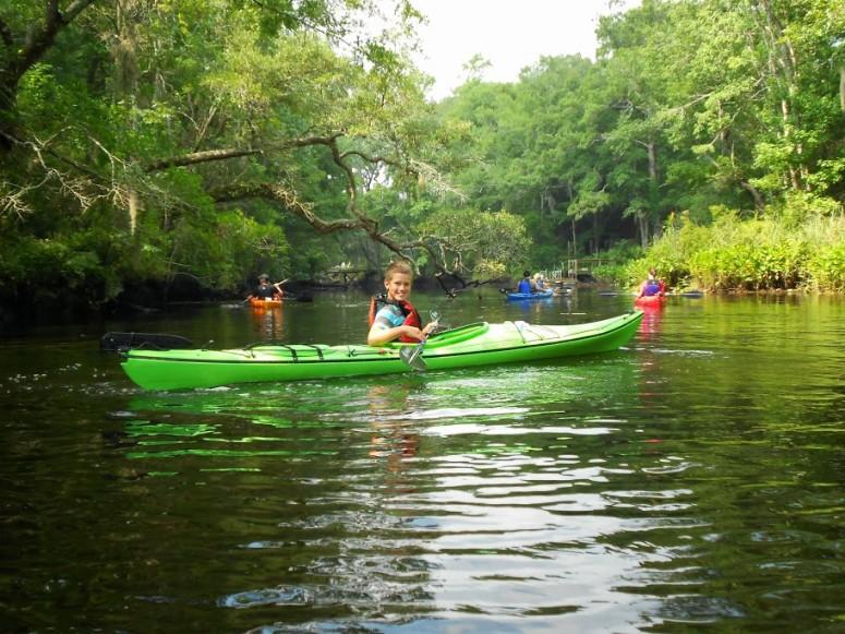 Kids Can Kayak on Lofton Creek